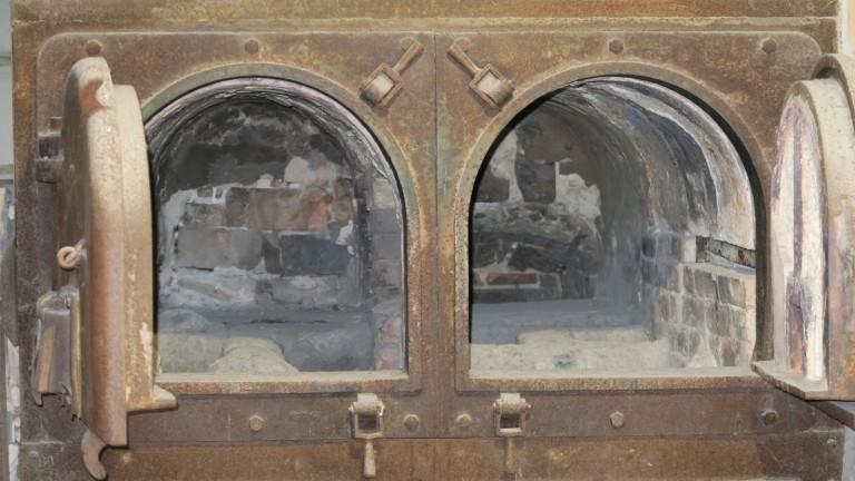 closeup of crematorium