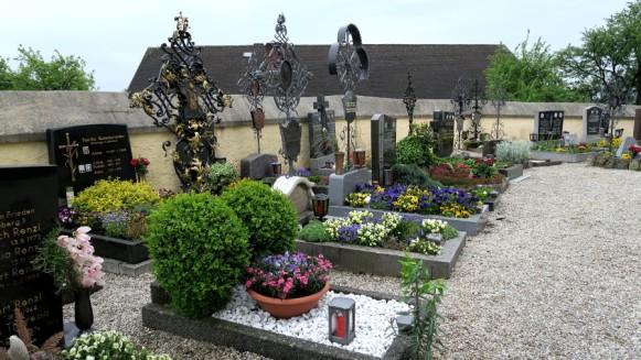 The church cemetery.