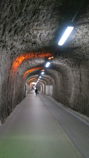 The marble tunnel to Hitler's elevator.