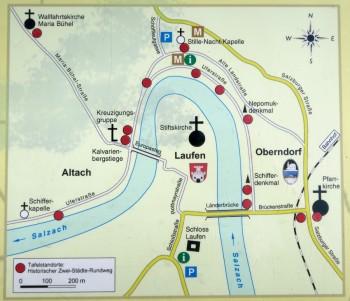 Oberndorf and Laufen map.