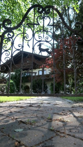 This is a lovely gate we saw on a home in Oberndorf.