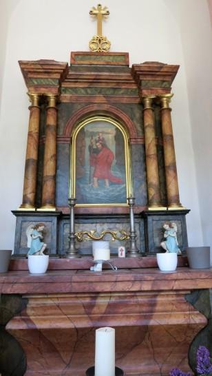 The altar at the Stile Nacht Kappelle